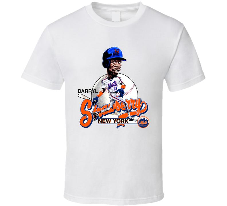 Darryl Strawberry Retro Baseball Caricature T Shirt