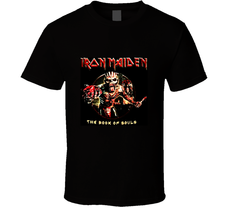 Iron Maiden The Book Of Souls Cover T Shirt