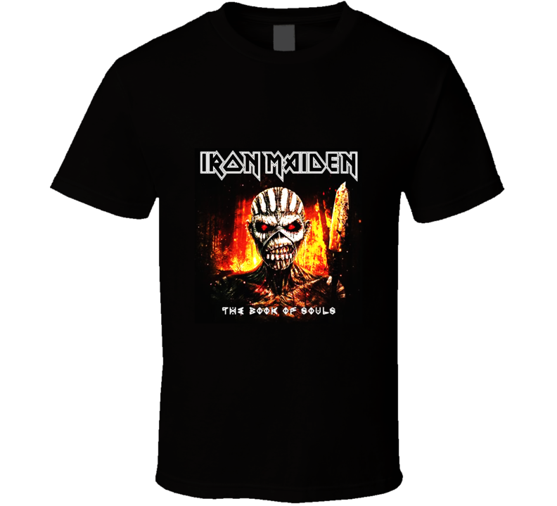 Iron Maiden The Book Od Souls Cover T Shirt