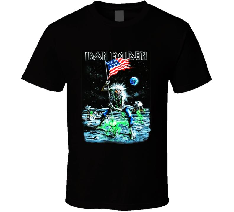 Iron Maiden Moonwalker Final Frontier Tour T Shirt