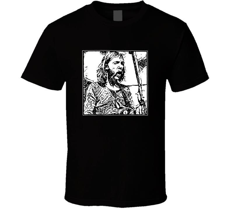 Duane Allman Skydog Les Paul Guitar Rock Blues T Shirt