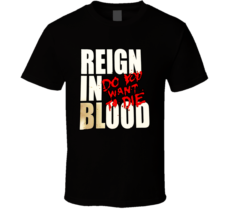 Slayer Reign In Blood Tour Reign In Blood T Shirt