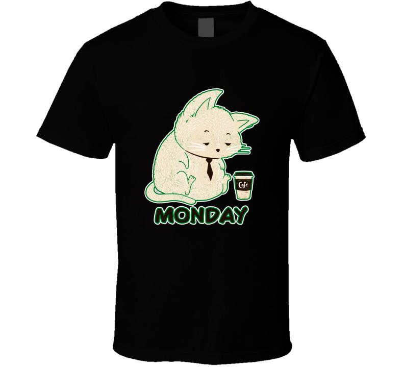 Monday Cat T Shirt