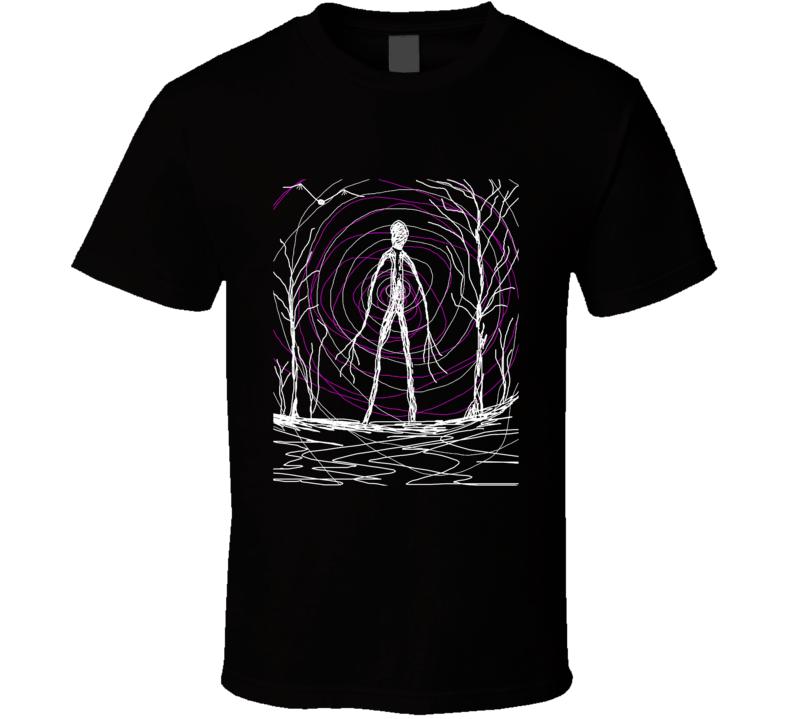 Creepy Slender Man In Woods Poster T Shirt