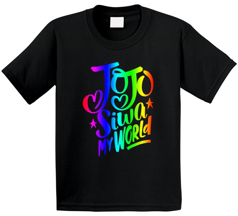 Jojo Siwa My World Rainbow T Shirt
