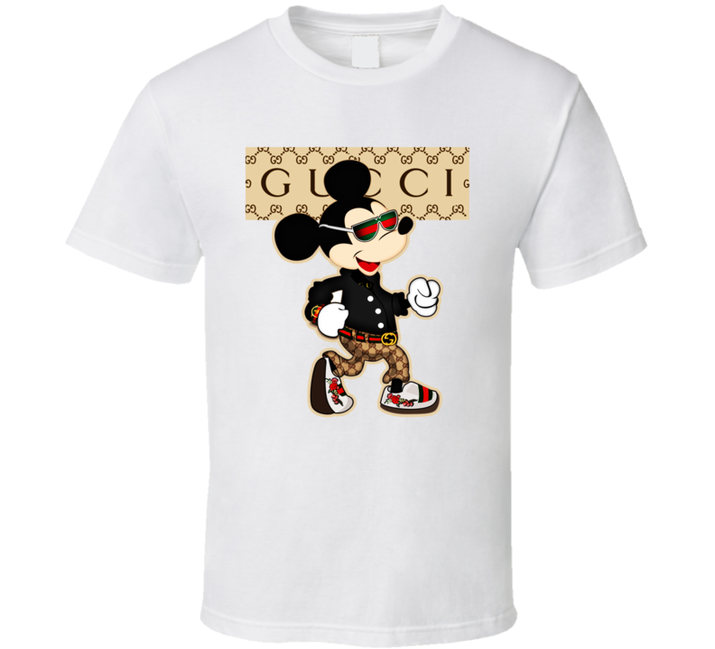 Funny Guccci Mickey Mouse  T Shirt