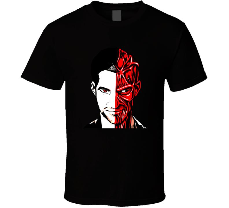 Lucifer Morningstar Half Satan T Shirt