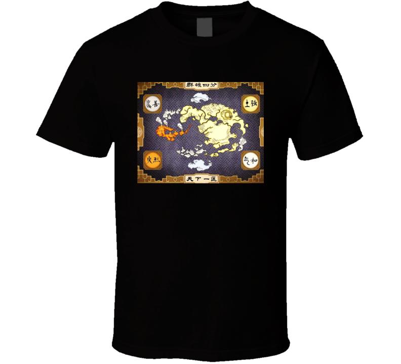 Avatar The Last Airbender Map T Shirt