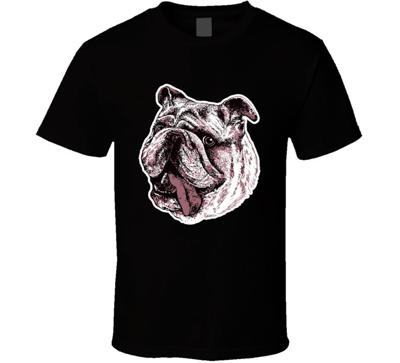 Bulldog Art T Shirt