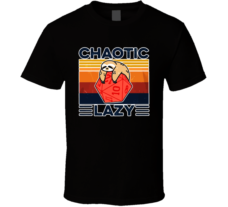 Sloth Chaotic Lazy Funny Game Gaming Vintage T Shirt