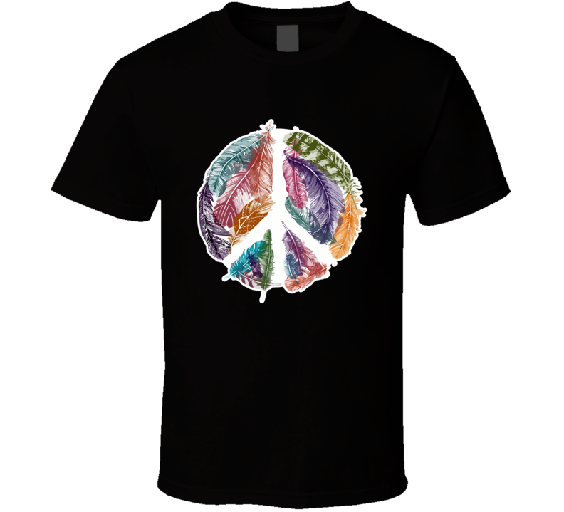 Peace Feathers T Shirt