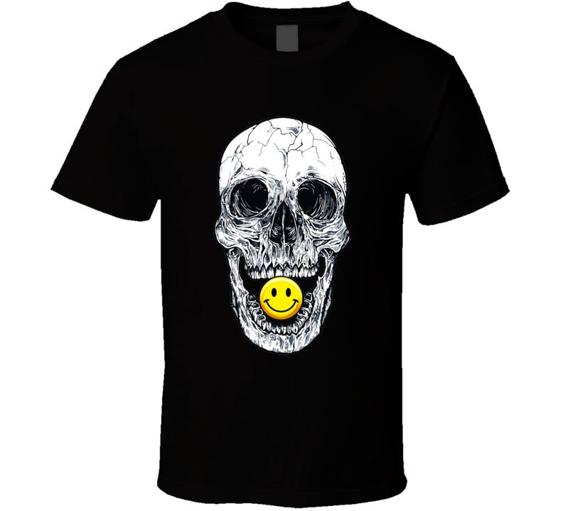 Smiley Skull Emoji T Shirt