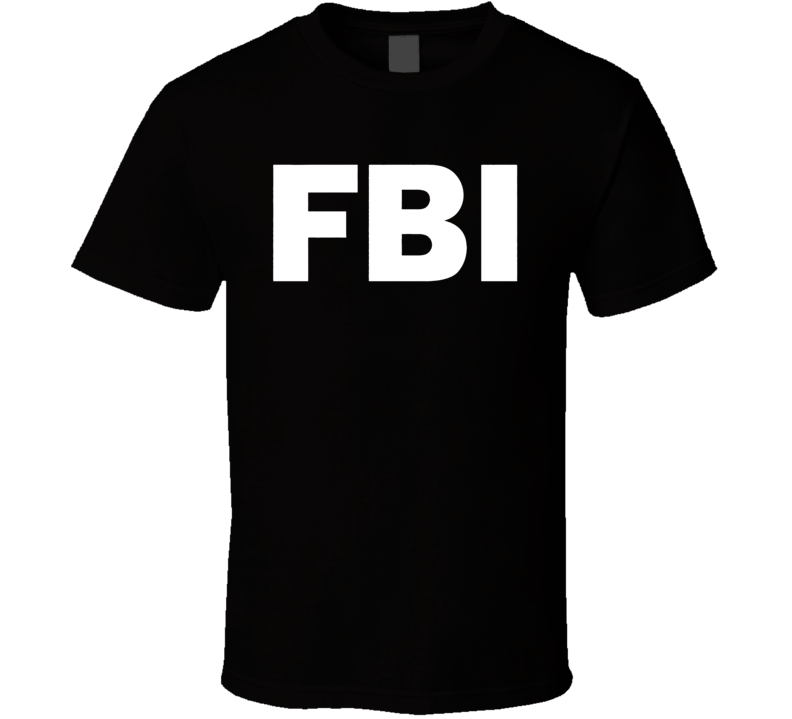 Fbi Logo White T Shirt