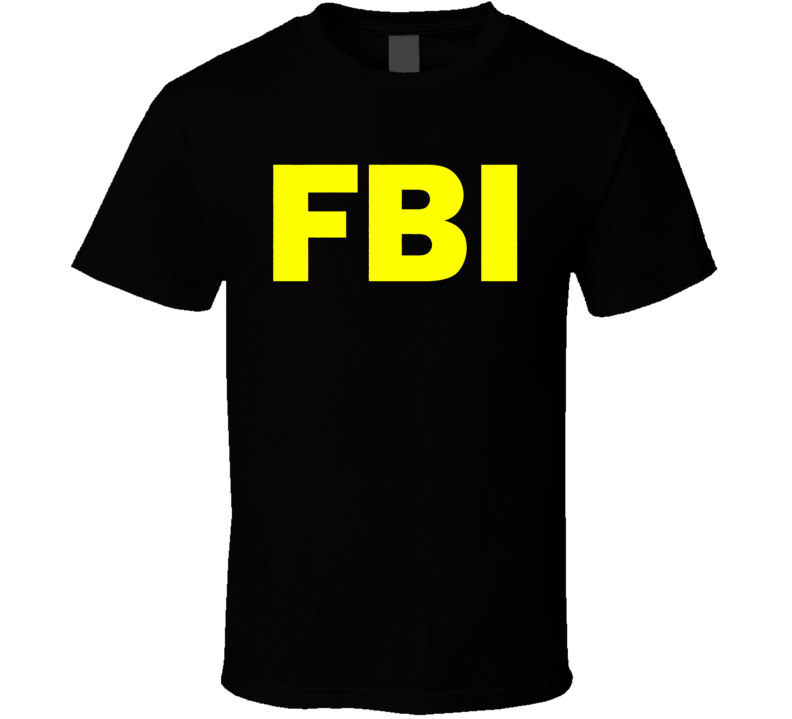 Fbi Logo Yellow T Shirt