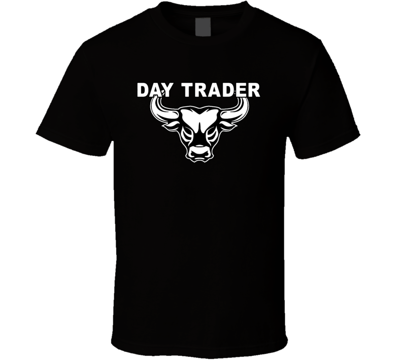Day Trading Bull Logo Trader Forex Bitcoin Cryptocurrency T Shirt