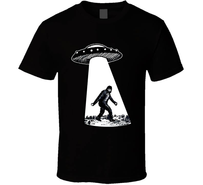 Bigfoot Ufo Sasquatch Funny Alien Area 51 Cryptozoology T Shirt