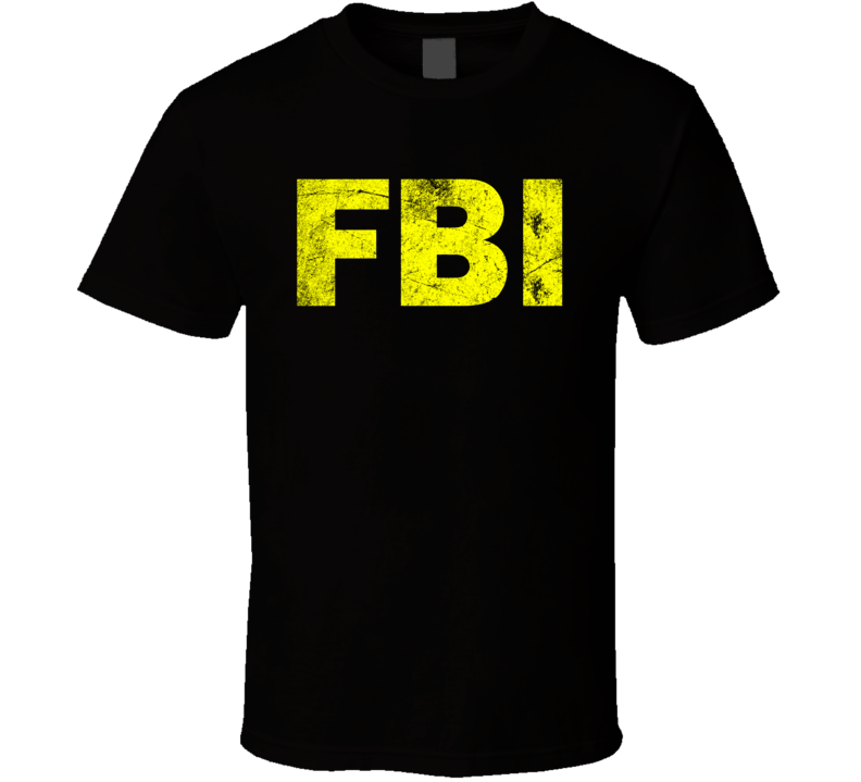 Fbi Logo Yellow Grunge T Shirt