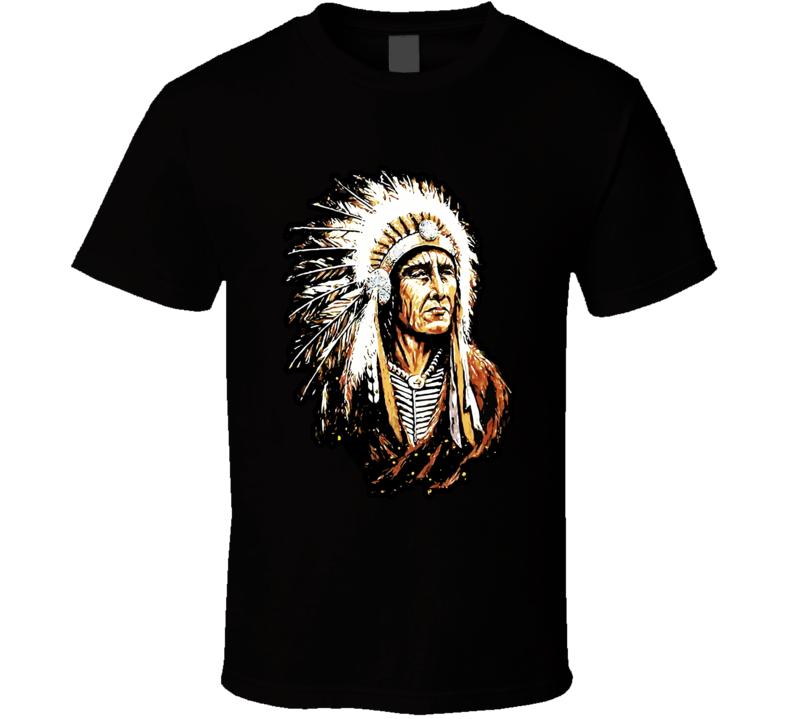 Indian Chief Native American Tribal Apache T Shirt