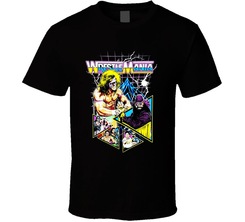 Wwe Wrestlemania Ultimate Warrior Vintage Retro Wwf T Shirt