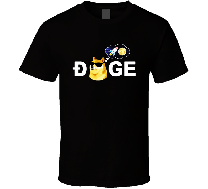Dogecoin Doge Hodl To The Moon Crypto Meme Funny Dog Lovers Gift T Shirt