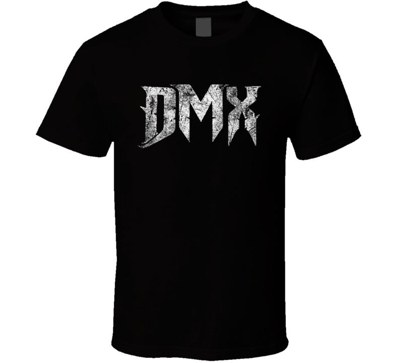 Dmx White Logo Grunge T Shirt