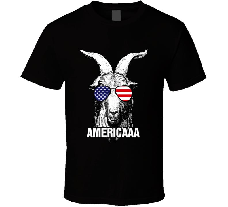 4th Of July Funny Patriotic Sunglasses Goat T Shirt