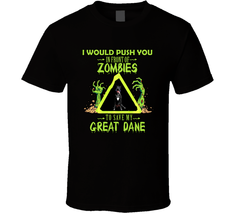 Great Dane Dog Lover Funny Zombie Halloween Costume Gift T Shirt