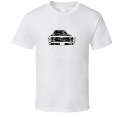 1966 Pontiac GTO Front View Distressed White T Shirt