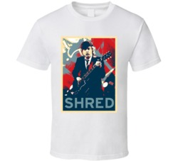 Angus Young Ac Dc  Guitar Shredder Hope Style T Shirt