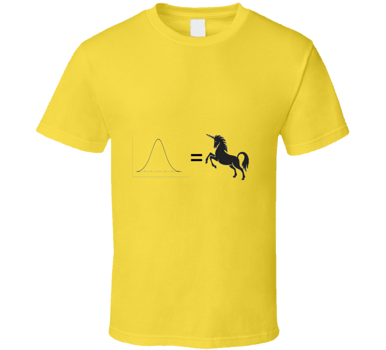 Norm Unicorn Funny unique stats nerd or geek tshirt Great gift for grad student prof quant methods statistician