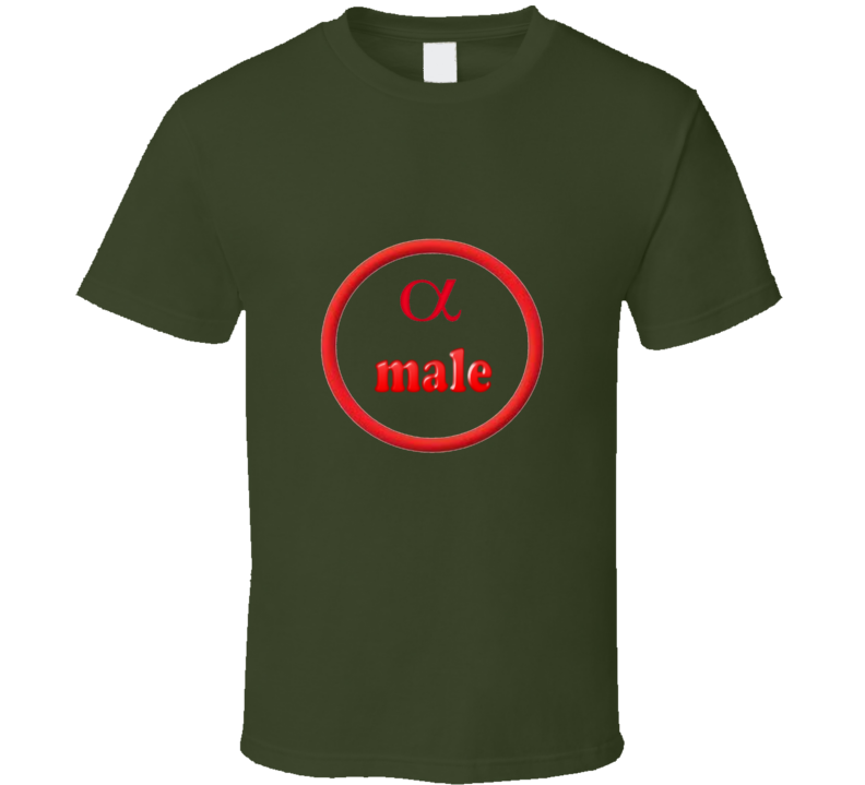 Alpha male MGreen Funny unique stats nerd or geek tshirt Great gift for grad student prof quant methods statistician