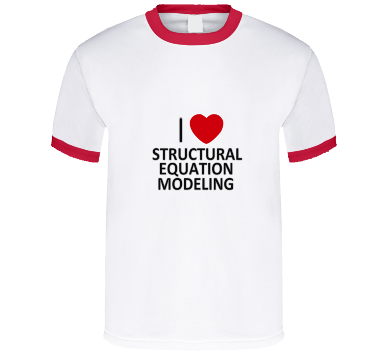 I heart SEM Funny unique stats nerd or geek tshirt Great gift for grad student prof quant methods statistician
