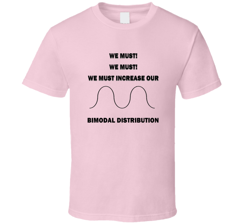 Must increase bimodal Funny unique stats nerd or geek tshirt Great gift for grad student prof quant methods statistician