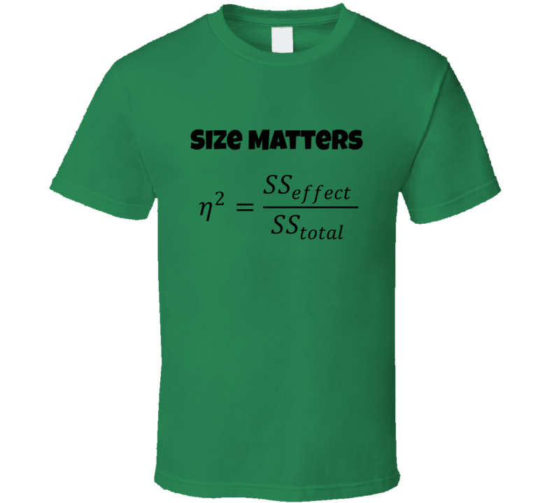 Effect size Funny unique stats nerd or geek tshirt Great gift for grad student prof quant methods statistician