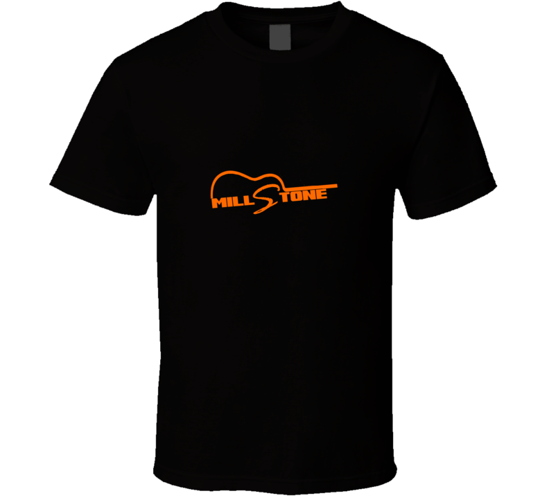 millstone orange on black T Shirt