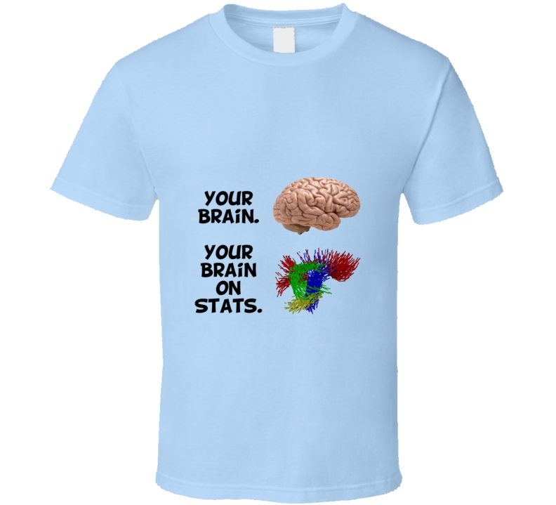 This is Your Brain on Stats Parody T Shirt