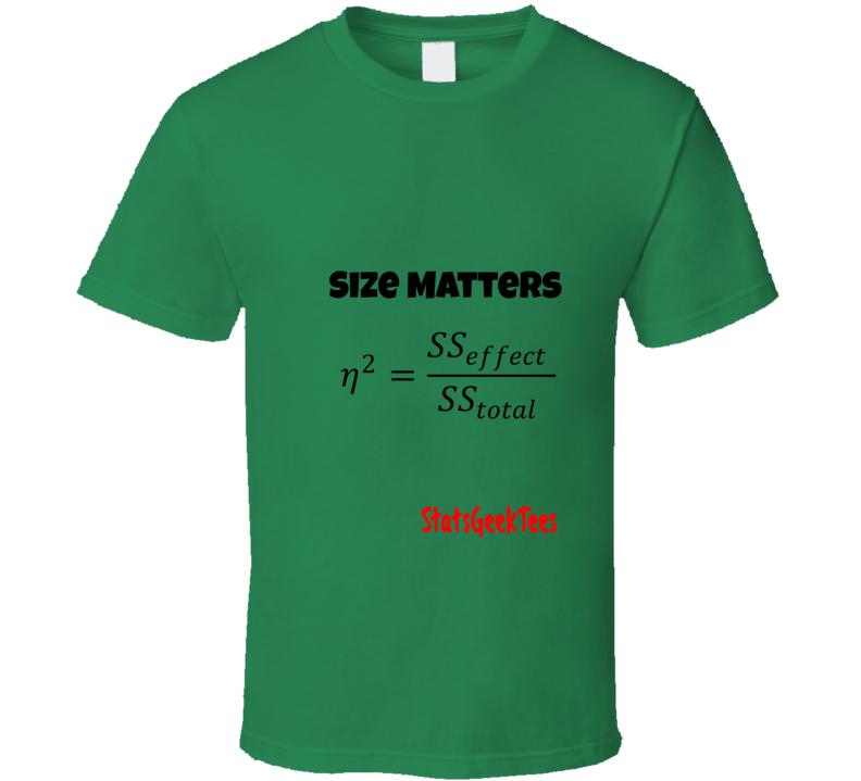 StatsGeekTees Promo Shirt Size Matters