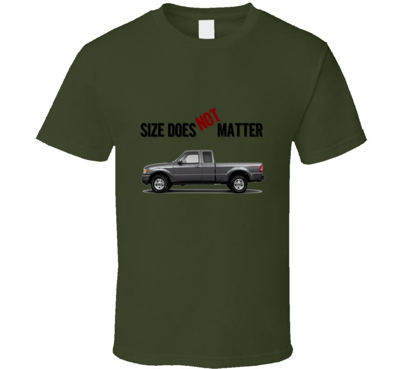 Gift stats geek / nerd unique funny tshirt - ford ranger size does not matter