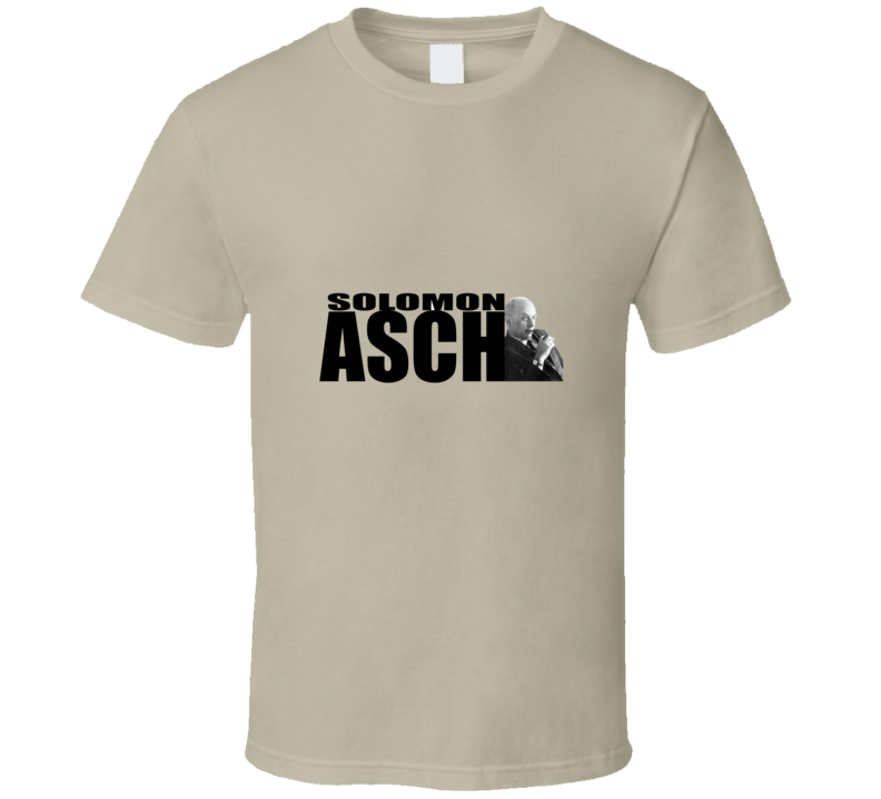 Asch Funny unique stats geek tshirt Great gift for psychology student prof statistician