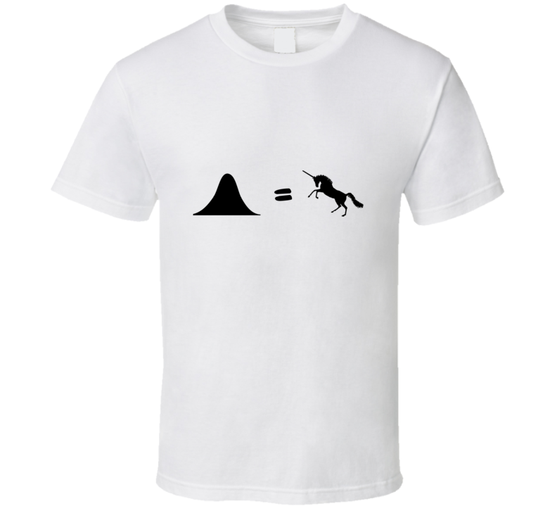 Normal Distribution Unicorn Funny stats geek tshirt Great gift for student prof statisitician