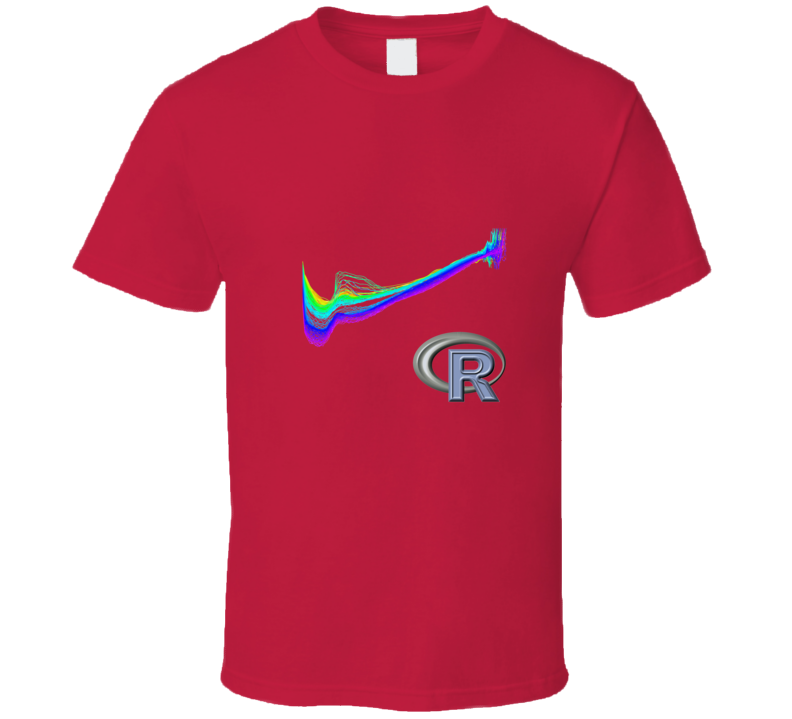 Graph with R tshirt Great gift for stats geek statistician analyst