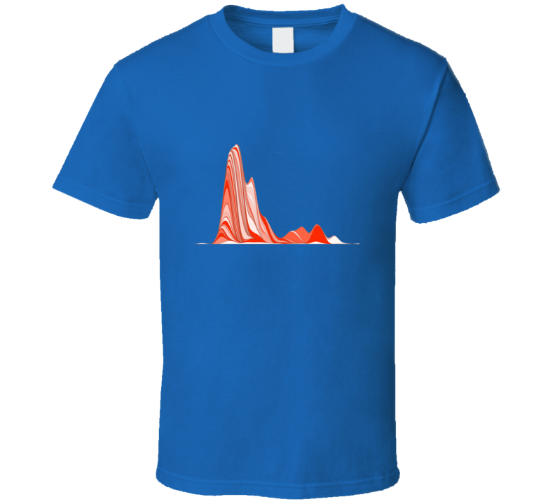 Orange R Graph Super stats geek tshirt Great gift!