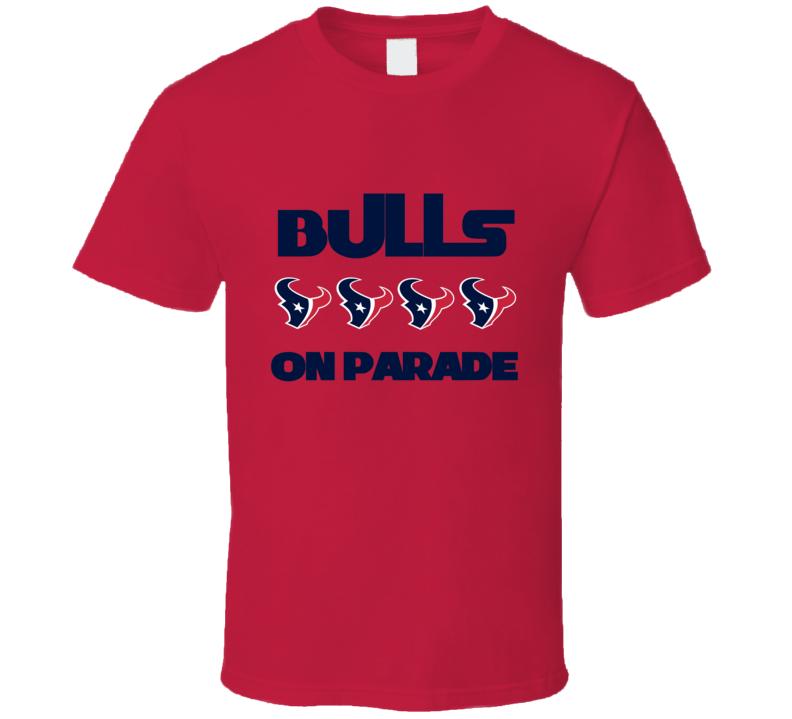 Houston Texans Defence Bulls on Parade Tshirt