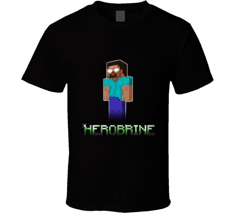 Minecraft Herobrine Black T Shirt