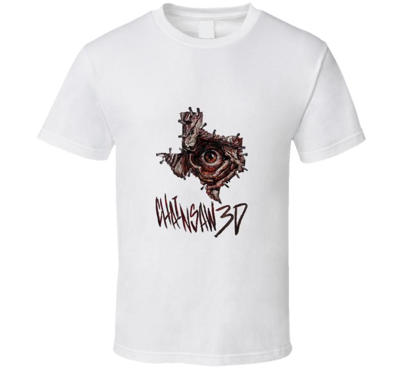 Texas Chainsaw Massacre Chainsaw 3D White T-Shirt