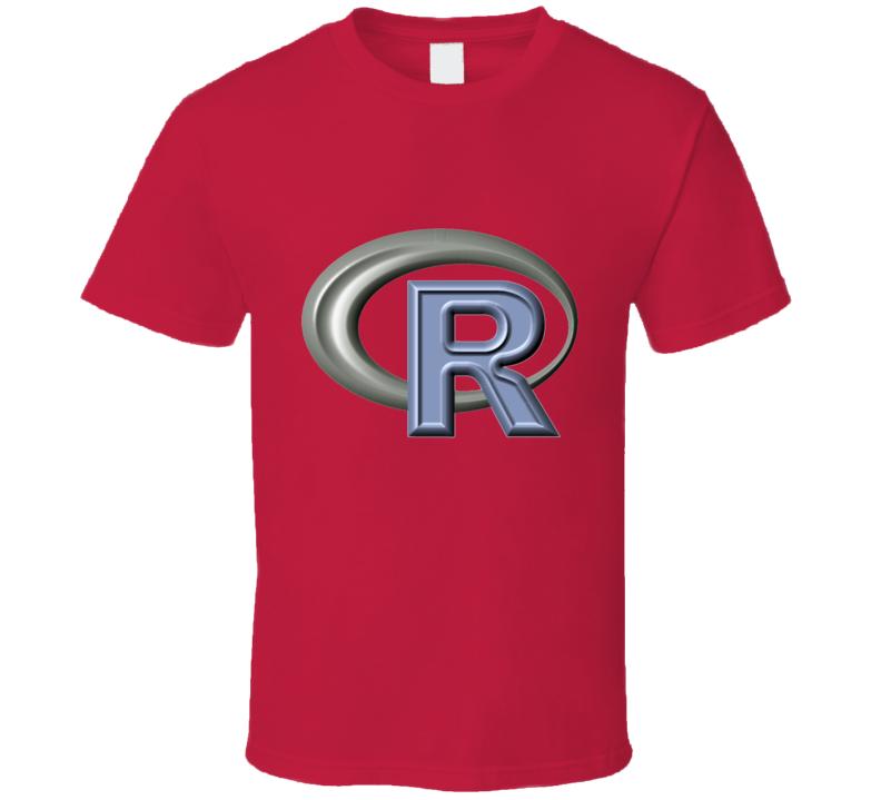 R Project Logo Stats Geek T Shirt