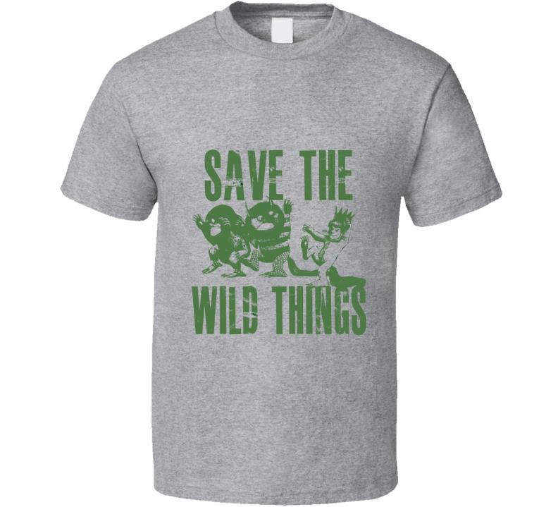 Save the Wild Things Isabela Lucas Grey T Shirt