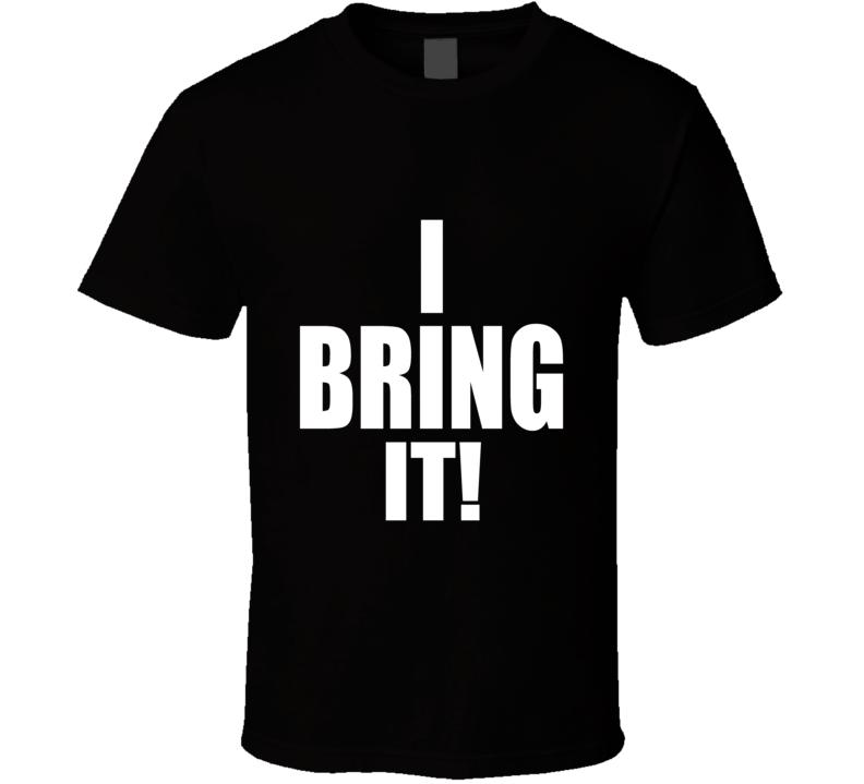 WWE The Rock Dwayne Johnson I Bring It Black T Shirt