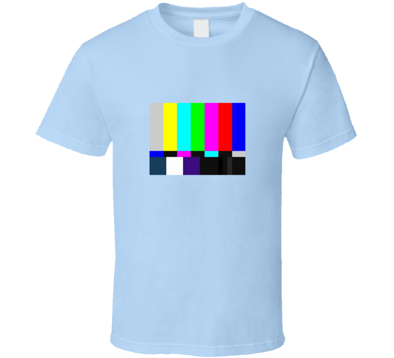 Big Bang Theory Sheldon Cooper TV Test Pattern T Shirt