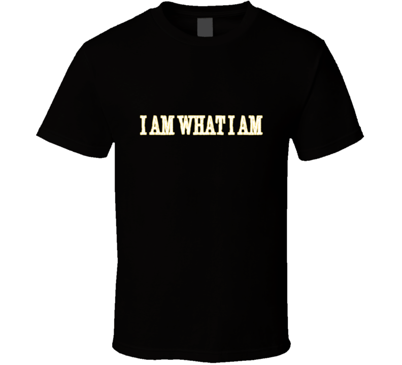 Ray Lewis I Am What I Am Black T Shirt